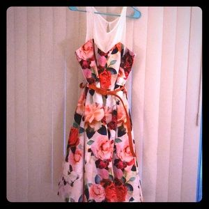 BNWT floral midi city chic dress